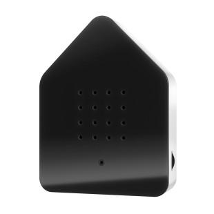 Relax Natursound Zwitscherbox schwarz. Vogelgezwitscher Soundbox - Vogelhaus mit Bewegungsmelder.