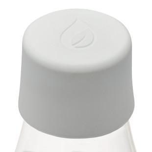 Weißer Ersatzdeckel für die Retap Trinkflasche aus Borosilikatglas. Deckel Kunststoff true white Retap.