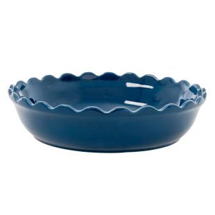 Auflaufform / Servierschale 33 cm Keramik, dunkelblau