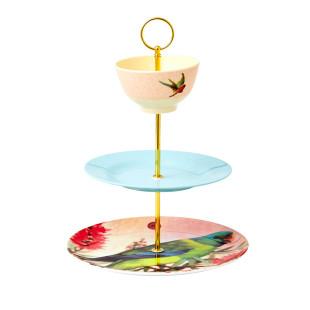 Kreiere dir deine eigene Etagere: 3-teiliges DIY Etageren Stäbe Set von RICE. Goldener DIY CAKE STAND von RICE.