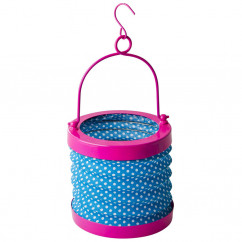 Lampion Laterne, pink-blue dots