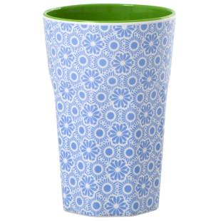 Melamin Becher groß, Marrakesh Print blau