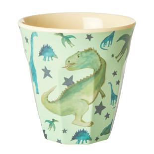 Dinosaurier wohin man schaut! Der Melamin Becher von RICE mit tollem DINO Print. Trinkbecher für Kinder und Erwachsene.