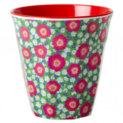 Melamin Becher medium, Flower Peony
