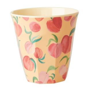 Becher aus Melamin mit Pfirsich-Motiv von Rice Denmark. Medium Becher Peach Print.