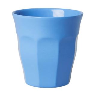 Melaminbecher medium RICE - Trinkbecher aus Melamin - Kunststoffbecher blau - Becher MELCU - BPA-frei, robust, stapelbar, spülmaschinengeeignet - RICE Denmark