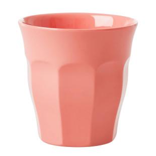 Melaminbecher medium RICE - Trinkbecher aus Melamin - Kunststoffbecher coral orange - Becher MELCU - BPA-frei, robust, stapelbar, spülmaschinengeeignet - RICE Denmark