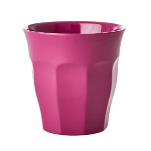 Kinderbecher RICE - Trinkbecher klein aus Melamin - Kunststoffbecher brombeere (lila) - Becher small MELCU - BPA-frei, robust, stapelbar, spülmaschinengeeignet - RICE Denmark