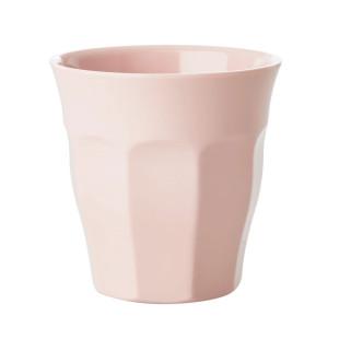 Kinderbecher RICE - Trinkbecher klein aus Melamin - Kunststoffbecher rosa - Becher small MELCU in soft pink - BPA-frei, robust, stapelbar, spülmaschinengeeignet - RICE Denmark