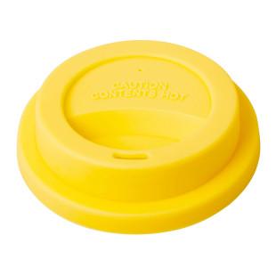 Rice Coffee To Go Becher Deckel Sunny Yellow aus BPA-freien Silikon. Kaffeebecher Deckel gelb für Melamin Becher von Rice.
