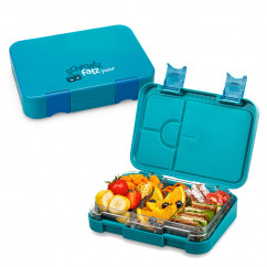 Kinderlunchbox JUNIOR mit Fächern, petrolblau