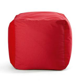 Sitzwürfel SQUARE BULL - Outdoor Hocker - Cube - Sitting Bull - Sunbrella Stoff rot - Sitzsack - Sitzkissen - Sitzhocker - Fußablage