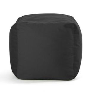 Sitzwürfel SQUARE BULL - Outdoor Hocker - Cube - Sitting Bull - Sunbrella Stoff schwarz - Sitzsack - Sitzkissen - Sitzhocker - Fußablage