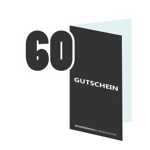 Geschenkgutschein 60 Euro