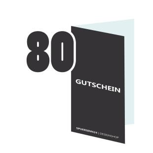 Geschenkgutschein 80 Euro