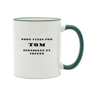 Kaffeetasse COFFEE VIBES mit Namen. Coffee Mug. Bedruckte Namenstassen mit Kaffeesprüchen. Henkeltasse / Namenstasse Kaffee