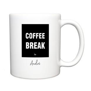 Tasse Coffee Break, personalisiert
