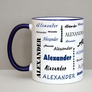 Tasse mit Namen - Namenstasse dunkelblau