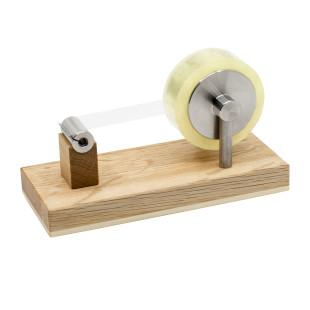 Exklusiver Klebefilmabroller Eiche - Steinhöringer Werkstätten. Schwerer Klebefilmabroller aus Eichenholz für Einhandbedienung. Design Klebeabroller Holz.