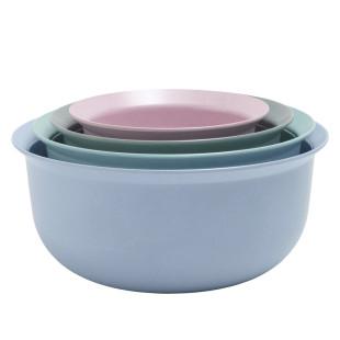 Minischüssel-Set 4 Stück Rig-Tig blau