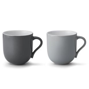 Tasse Emma groß 2 Stück 0,38l - grau