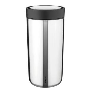 Doppelwandiger Thermobecher aus Edelstahl - Vacuum To Go Click 0,4 l steel - Stelton Design.