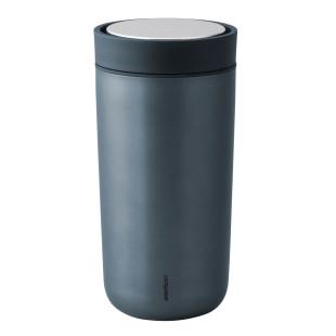 Doppelwandiger Thermobecher dunkelblau - Vacuum To Go Click 0,4 l - darkblue metallic - Stelton Design.