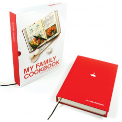 Rezeptebuch - My Family Cookbook, rot