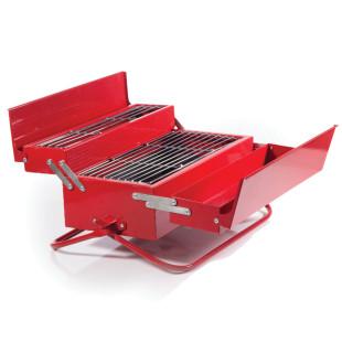 Toolbox Werkzeugkisten Grill von SUCK UK - geöffnet.
