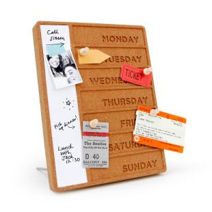 Design Organizer Wochenplaner Kork Pinnwand. Weekday Cork Planner von SUCK UK.