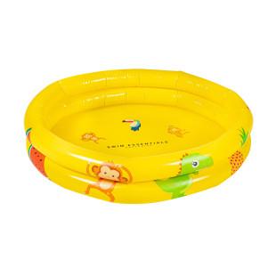 Babypool HAPPY ANIMALS von Swim Essentials. Gelber Minipool 60 cm mit Tiermotiven. Designer Kinder- und Babypool.