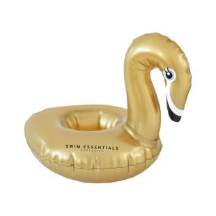 Aufblasbarer Getränkehalter SCHWAN GOLD von Swim Essentials. Schwimmende Minibar - Pool Getränkehalter / Party Becherhalter.