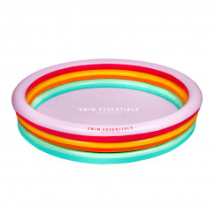 Runder Pool RAINBOW / Farbenfrohes Planschbecken 150 cm bunt. Design Kinderpools von Swim Essentials