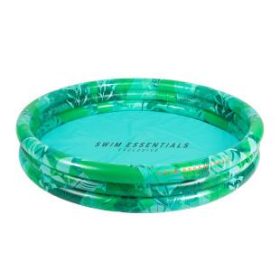 Runder Pool TROPICAL grün / Farbenfrohes Planschbecken 150 cm mit Dschungel-Print. Design Kinderpools von Swim Essentials