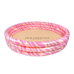 Swim Essentials Pool PINK ZEBRA. Runder Pool 150 cm im rosa Zebra-Look.