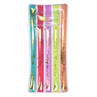 Bunte Wasser Luftmatratze Regenbogen: LUXURY RAINBOW von Swim Essentials. Schwimmende Matratze zum Aufblasen.