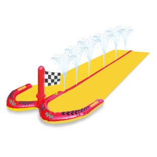 Wasserbahn mit Sprinklerfunktion. Wasserrutsche WATER SLIDE RACING 5m von Swim Essentials. Wassersprühbahn / Wasserrutschbahn WATER SLIDE RACING Swim Essentials.