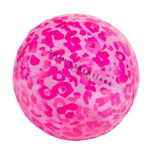 Riesiger Wasserball für Mädchen. Wasserball BEACH BALL pink Swim Essentials. Aufblasbarer XL Wasserball. Neon pinker Wasserball Leopard Print.