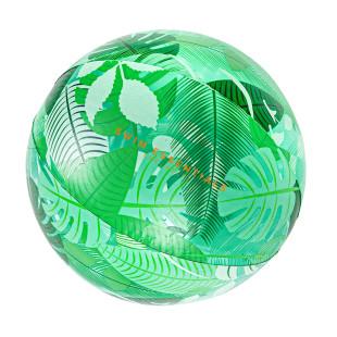 Großer XL Wasserball. Wasserball BEACH BALL Tropical Swim Essentials. Aufblasbarer Wasserball mit Blätterdesign / Dschnungel-Print.