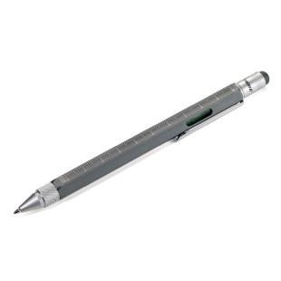 Multitasking Design Kugelschreiber von TROIKA - anthrazit grau.