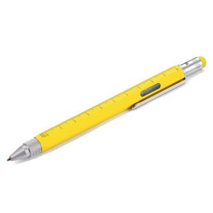 Multitasking Design Kugelschreiber von TROIKA - gelb.