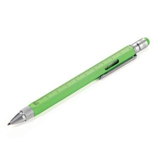 Multitasking Design Kugelschreiber von TROIKA - neon grün.