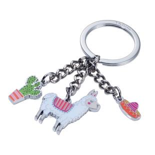 Schlüsselanhänger Alpaka by TROIKA DESIGN. Schlüsselhalter mit Charms: Alpaka, Kaktus & Sombrero