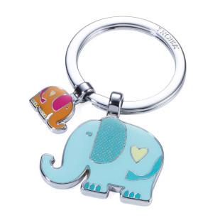 Schlüsselanhänger Elefanten by TROIKA DESIGN. Schlüsselhalter RÜSSELBANDE mit Charms.