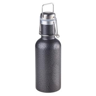 SERENGETI: die robuste Trinkflasche aus Edelstahl mit Bügelverschluss von TROIKA. Auslaufsichere Edelstahlflasche mit 0,6 Liter Fassungsvermögen.