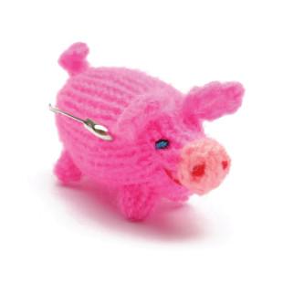 Anhänger Schweinchen in pink von Titicaca.