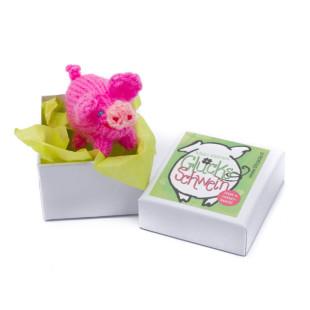 Glücksschweinchen gestrickt in der Box (handmade)