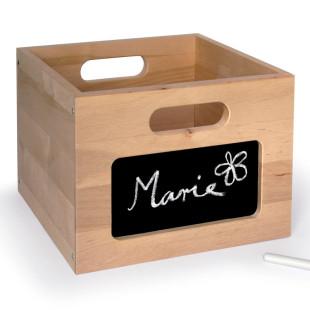 Holzbox mit Tafel