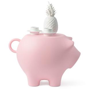 Beistellschwein - Hocker, Beistelltisch, Designobjekt und mehr! Das große XXL Schwein von Werkwaardig aus Kunststoff - Modell rosa matt.