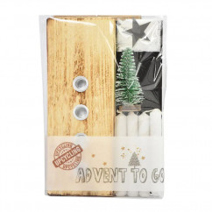 Nachhaltiger Adventsleuchter Upcycling - aus recycelten Palettenholz, hergestellt in Werkstätten für behinderte Menschen. Advent to go von Wunderle.